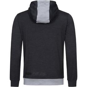 super.natural Movement Half Zip Hoodie Men jet black melange/silver grey melange